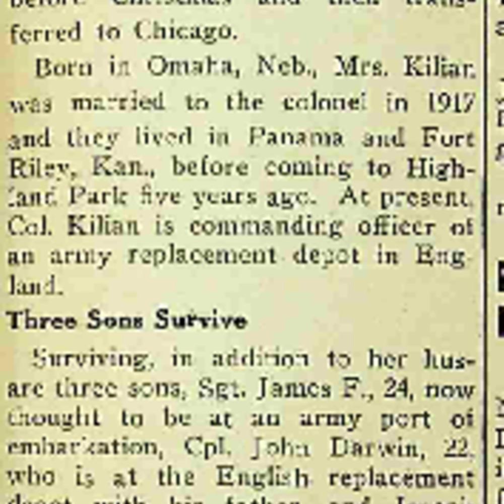 Helen Marie Killian Obituary
