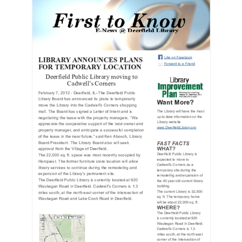First to Know E-News | February 7, 2012