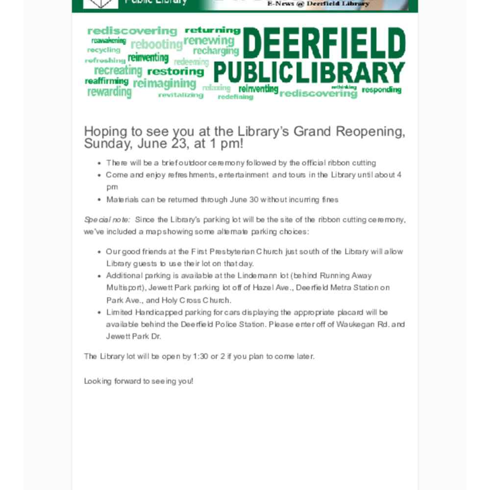 2012-6-19 First To Know! E-news - GRAND REOPENING JUNE 23.pdf