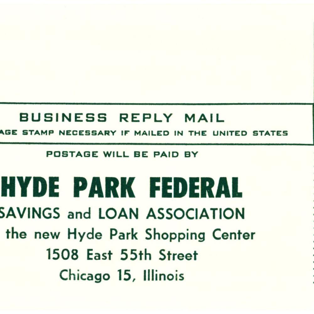 Envelope Hyde Park Federal Savings and Loan Association