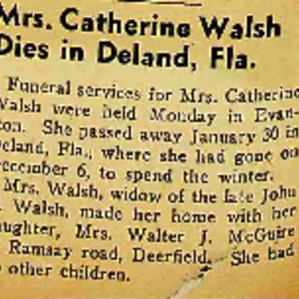 Catherine Walsh Obituary